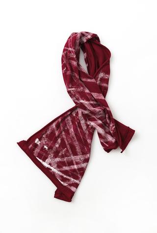 Alabama chanin stenciled slim tie scarf 3