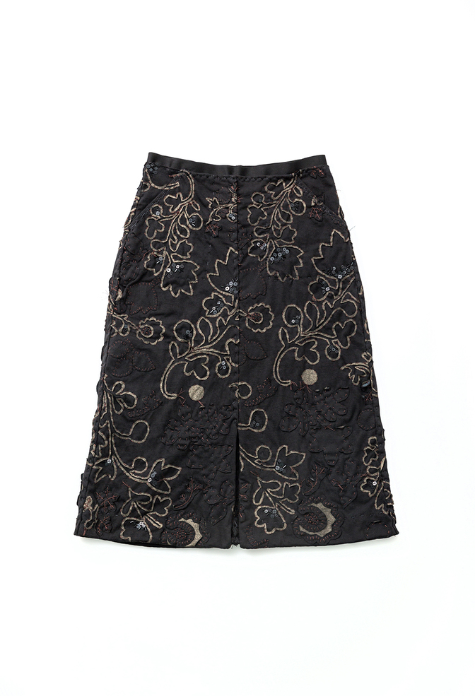 Alabama chanin organic cotton floral skirt 3