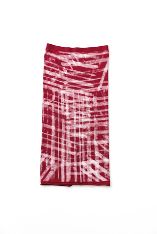 Alabama chanin graffiti stenciled rib pencil skirt 3