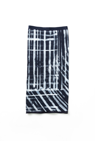 Alabama chanin graffiti stenciled rib pencil skirt 4
