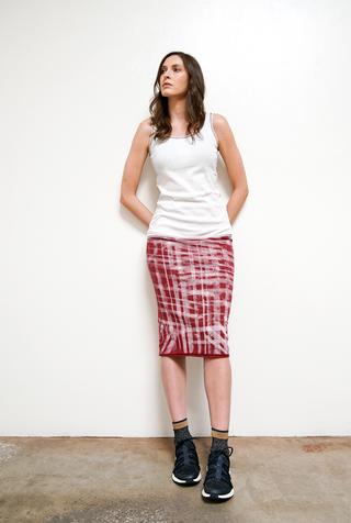Graffiti Rib Skirt