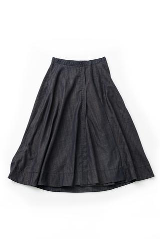 Alabama chanin chambray organic handsewn leighton long skirt 7