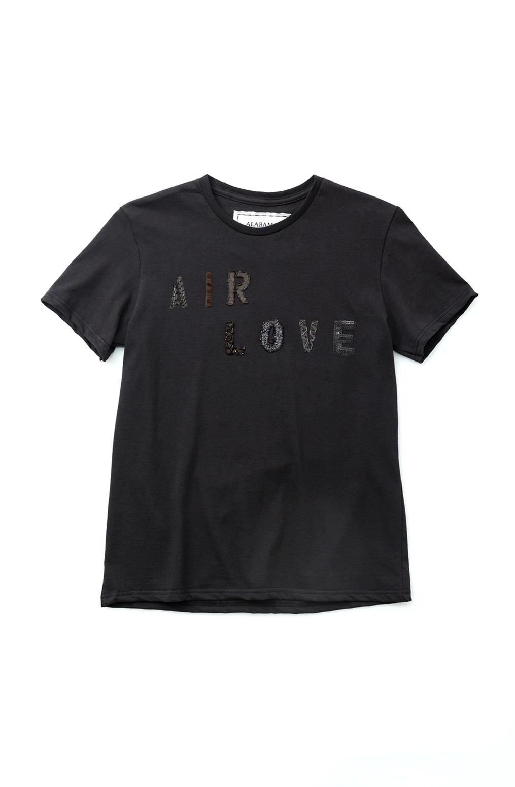Alabama chanin hand embroidered beaded sequin air love tee 2