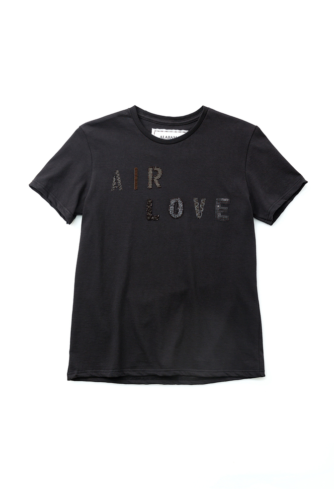 Alabama chanin hand embroidered beaded sequin air love tee 2