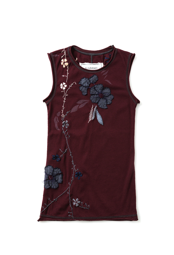 Alabama chanin embroidered sleeveless top 4