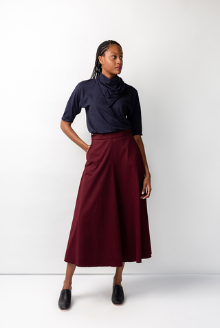 Elle pocket organic cotton alabama chanin skirt 5