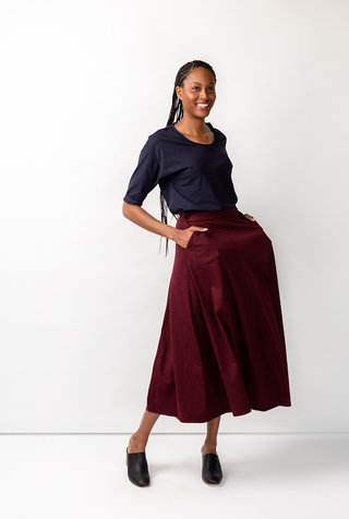 Elle pocket organic cotton alabama chanin skirt 4