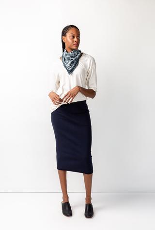 Alabama chanin stenciled cotton bandana 3