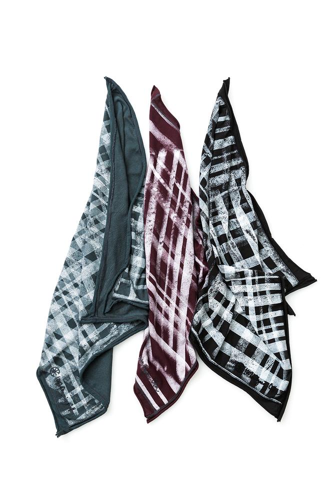 Alabama chanin stenciled cotton bandana 5