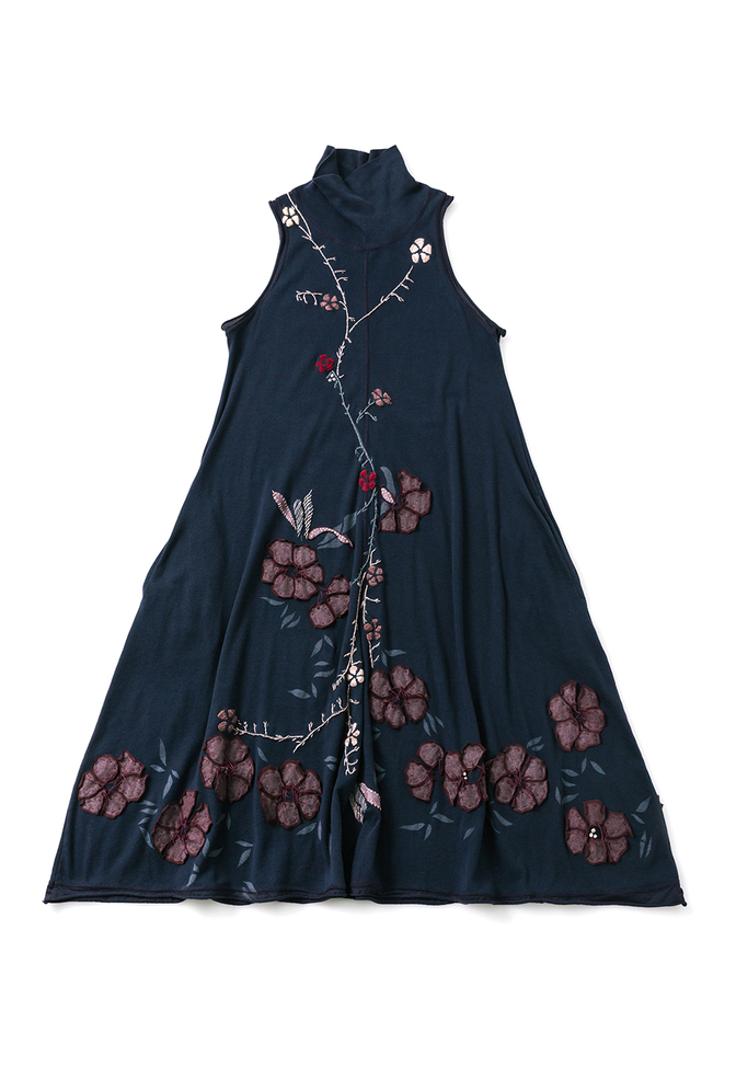 Alabama chanin embroidered turtleneck dress 1
