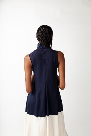Alabama chanin turtleneck mid length dress 2
