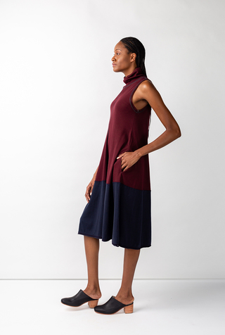 Alabama chanin turtleneck mid length dress 5