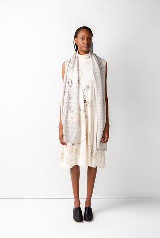 Alabama chanin knit wrap scarf 3