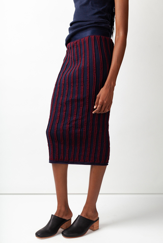Alabama chanin striped womens pencil skirt 2