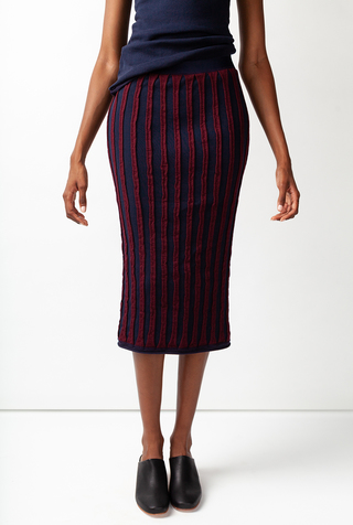 Alabama chanin striped womens pencil skirt 1
