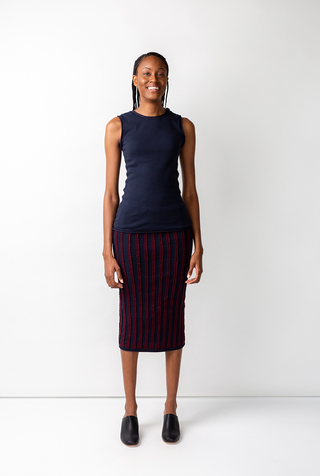 Alabama chanin striped womens pencil skirt 3