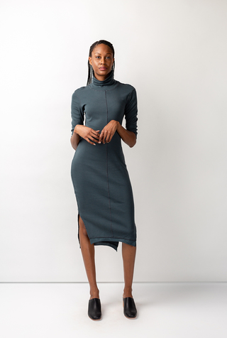Alabama chanin rib turtleneck dress 5