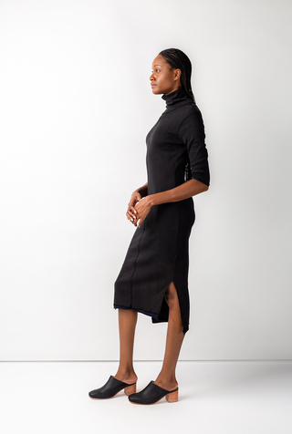 Alabama chanin rib turtleneck dress 4