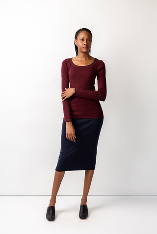 Alabama chanin rib pencil skirt 8