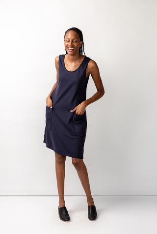 Alabama chanin organic cotton racerback dress 4