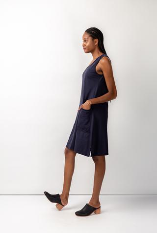 Alabama chanin organic cotton racerback dress 5