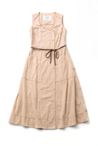 Alabama chanin double breasted pockets organic chambray dress 4