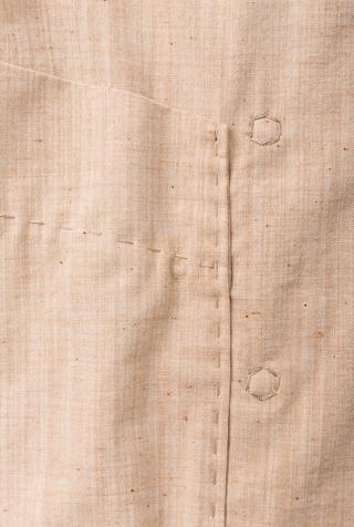 Alabama chanin double breasted pockets organic chambray dress 5