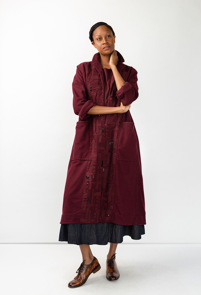 Alabama chanin tweed duster 1