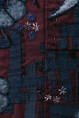 Alabama chanin tweed floral smock 5