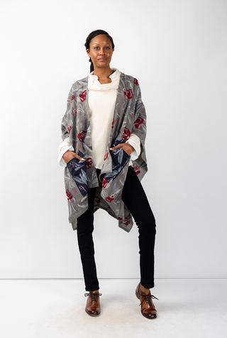Alabama chanin swans island embroidered woven cape 2