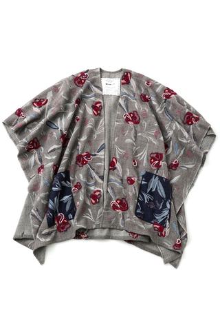 Alabama chanin swans island embroidered woven cape 4