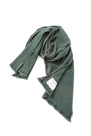 Alabama chanin organic cotton waffle knit scarf 4