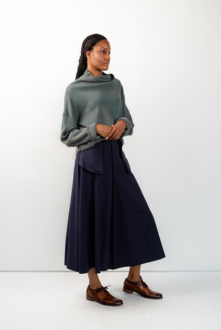 Alabama chanin mid length inside out skirt 2