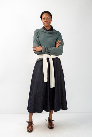 Alabama chanin indigo waffle knit sweatshirt 3