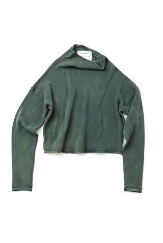 Alabama chanin indigo waffle knit sweatshirt 5