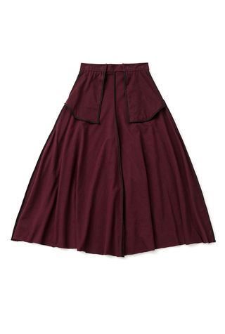 Alabama chanin mid length inside out skirt 6
