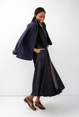 Alabama chanin chambray organic handsewn leighton long skirt 11