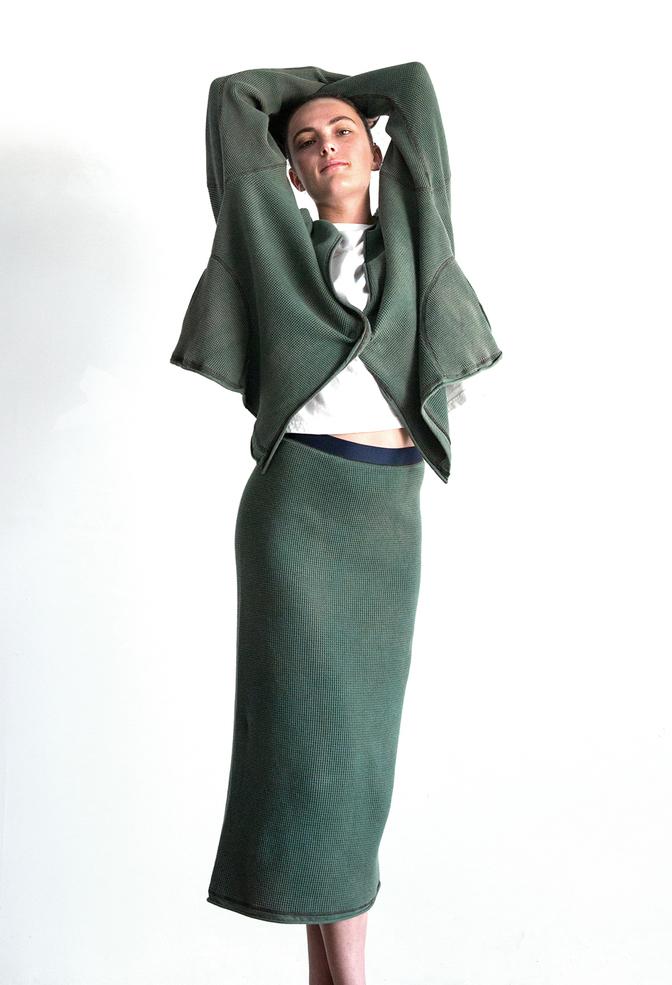 Alabama chanin indigo waffle straight skirt 11