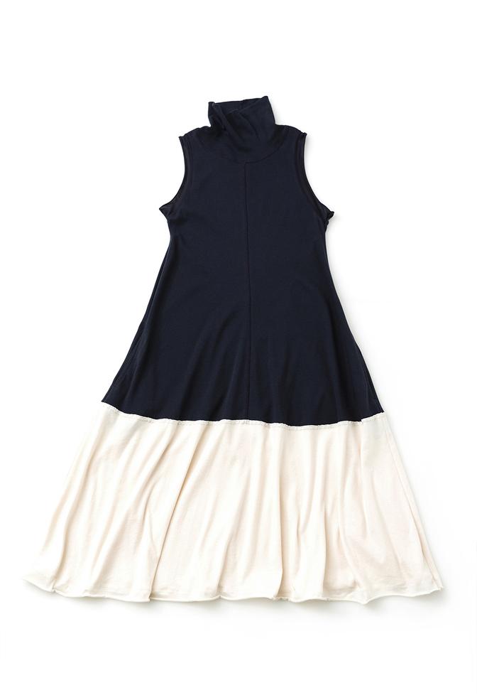 Alabama chanin turtleneck mid length dress 1