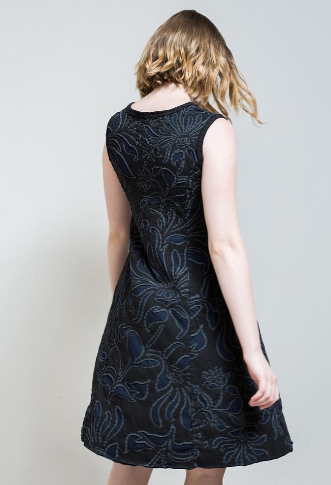 Factory dress   magdalena   reverse applique   black navy   diy4   abraham rowe 13