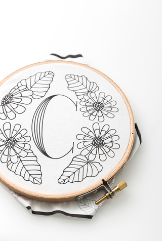 The school of making monogram embroidery kit 5