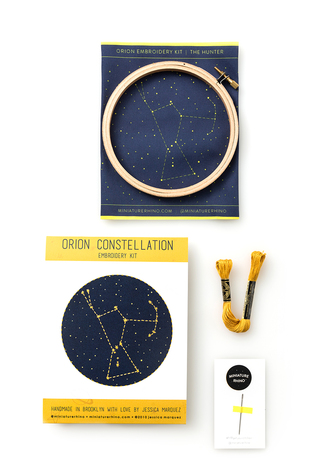 Miniature Rhino Constellation Embroidery Kit