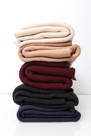 Alabama chanin waffle knit blanket 4