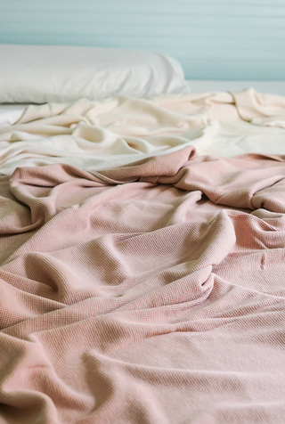 Alabama chanin waffle knit blanket 5