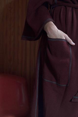 Alabama chanin organic cotton waffle bath robe 1