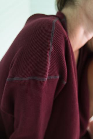 Alabama chanin waffle knit thermal cardigan 3