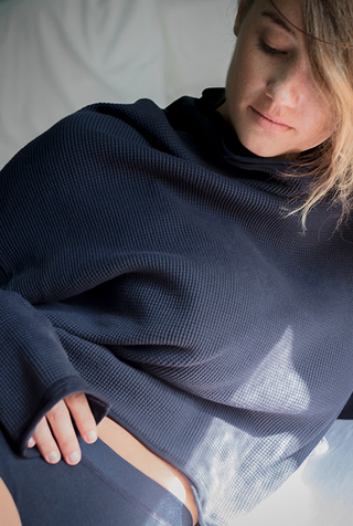 Alabama chanin waffle knit sweatshirt 6