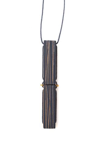 Alabama chanin heath ceramics bar necklace bird s nest indigo 2
