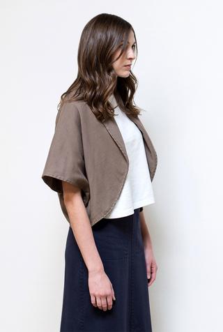 Alabama chanin handsewn cotton shawl 1