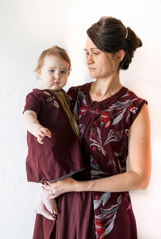 Alabama chanin organic baby dress set 2